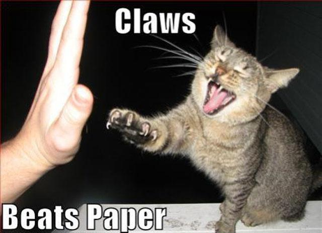 Claws beats paper Picture Quote #1