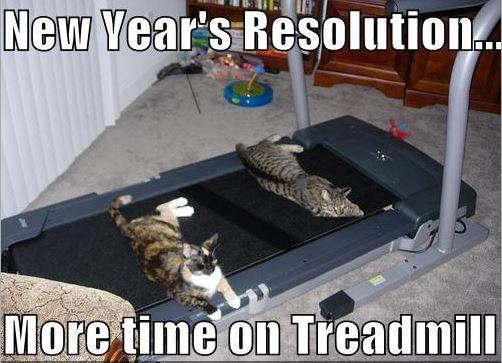 New Year's resolution... more time on treadmill Picture Quote #1