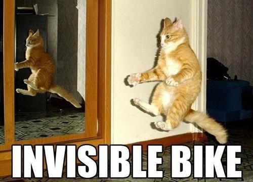 Invisible bike Picture Quote #1