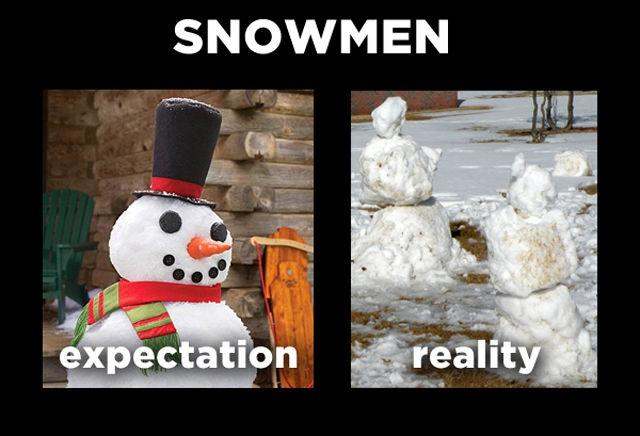 Snowmen. Expectation. Reality Picture Quote #1