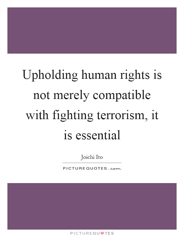 essay on human rights and fighting terrorism