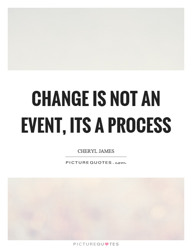 Change is not an event, its a process Picture Quote #1