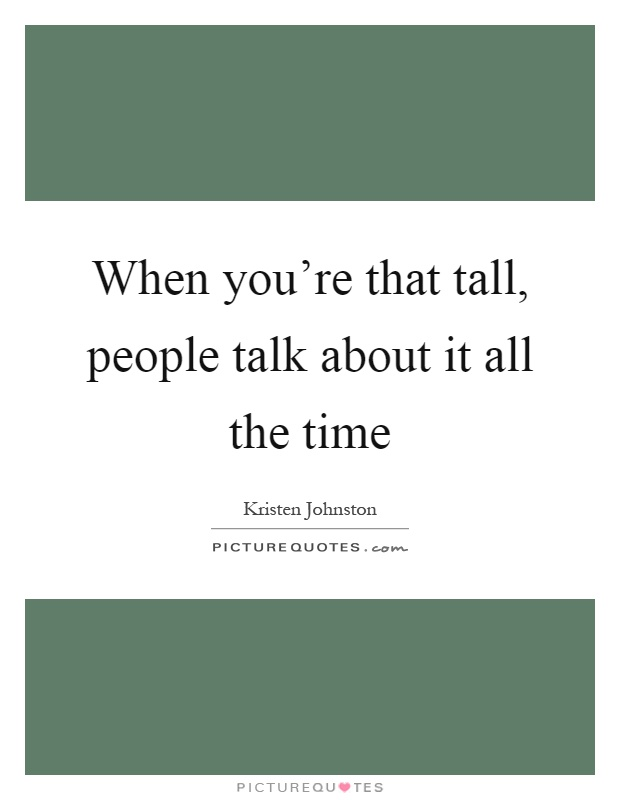 How to talk to tall people