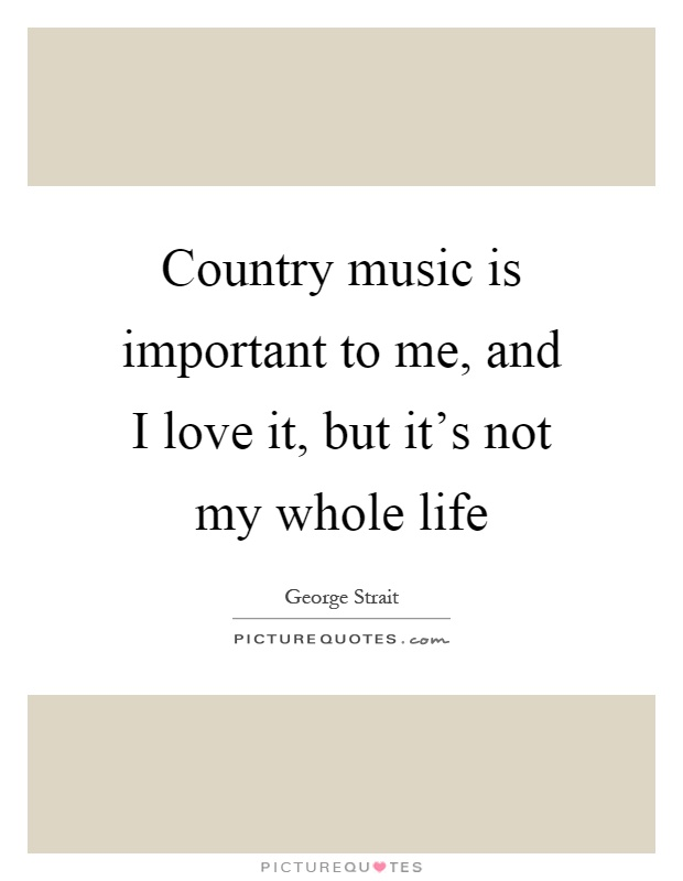 Music Is Necessary For Me