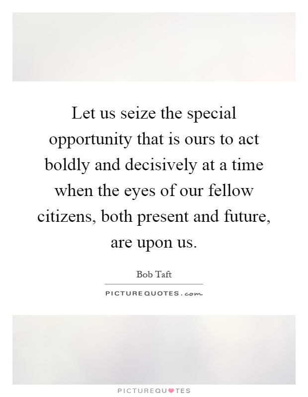 Fellow citizens both present and future are upon us picture quote 1
