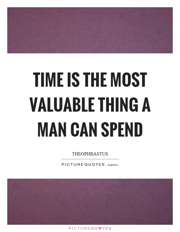 time is more valuable I definitely think time is more valuable than money i'm starting to do little things such as hiring help on my blog in order to get some of my free time back reply squirrelers says october 18, 2012 at 6:46 pm.