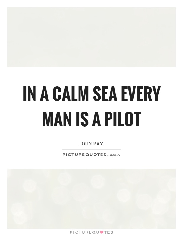 In a calm sea every man is a pilot Picture Quote #1