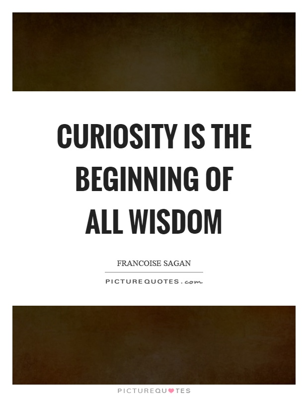Curiosity is the beginning of all wisdom Picture Quote #1