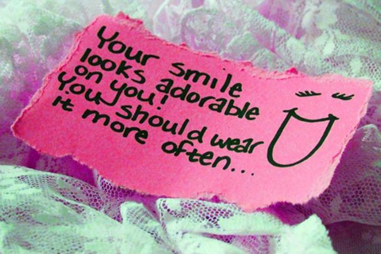 Your smile looks adorable on you! You should wear it more often Picture Quote #1