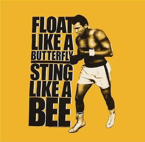 Float like a butterfly, sting like a bee Picture Quote #2