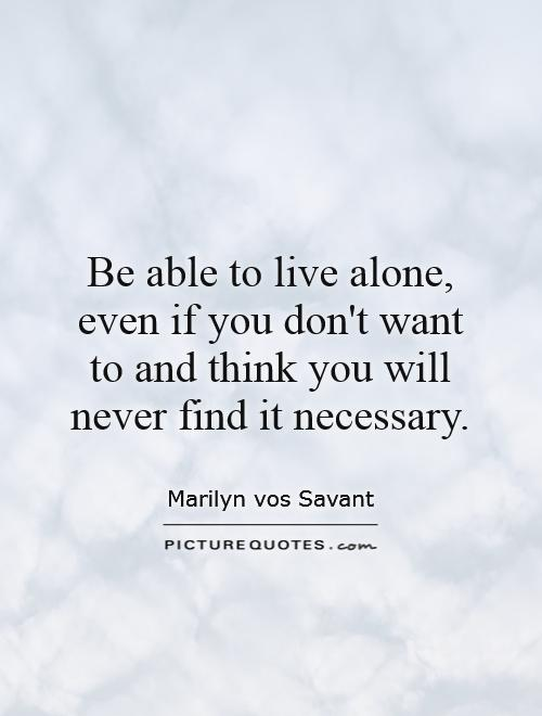 I want to live alone images