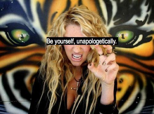 Be yourself. unapologetically Picture Quote #1