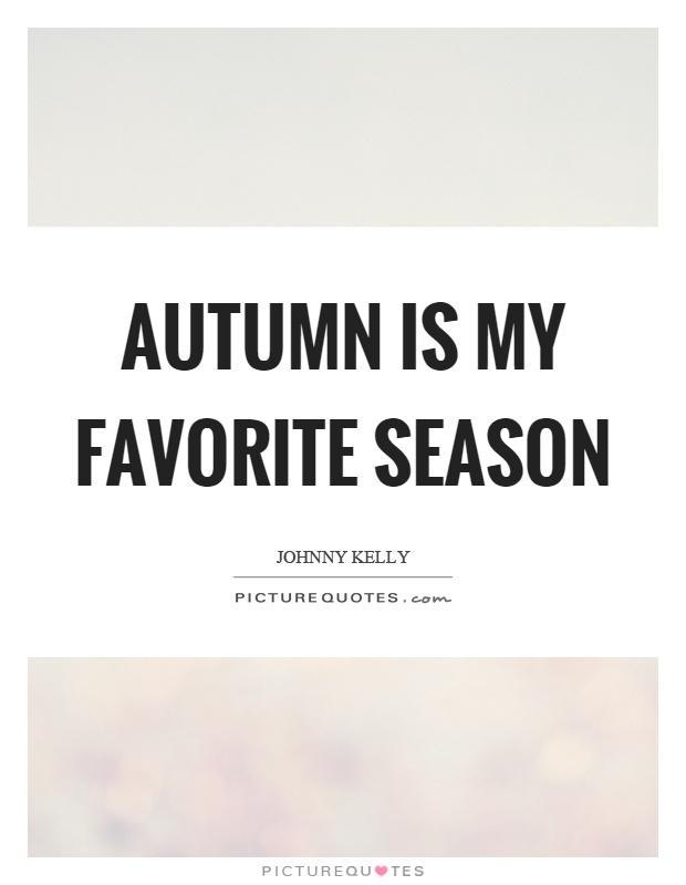 Autumn is my favorite season essay
