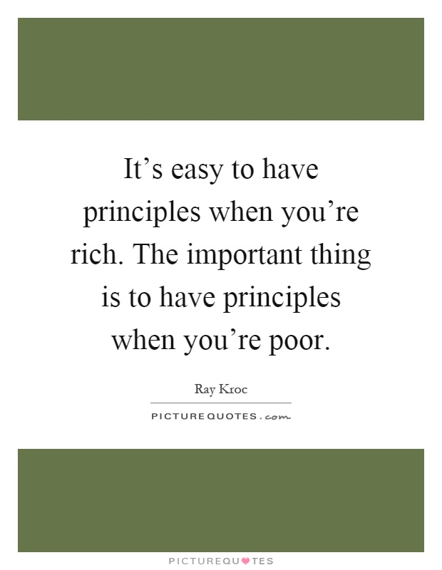importance of having principles