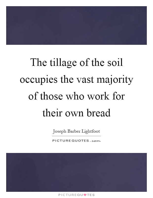 The tillage of the soil occupies the vast majority of those who work for their own bread Picture Quote #1