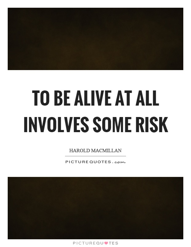 To be alive at all involves some risk Picture Quote #1