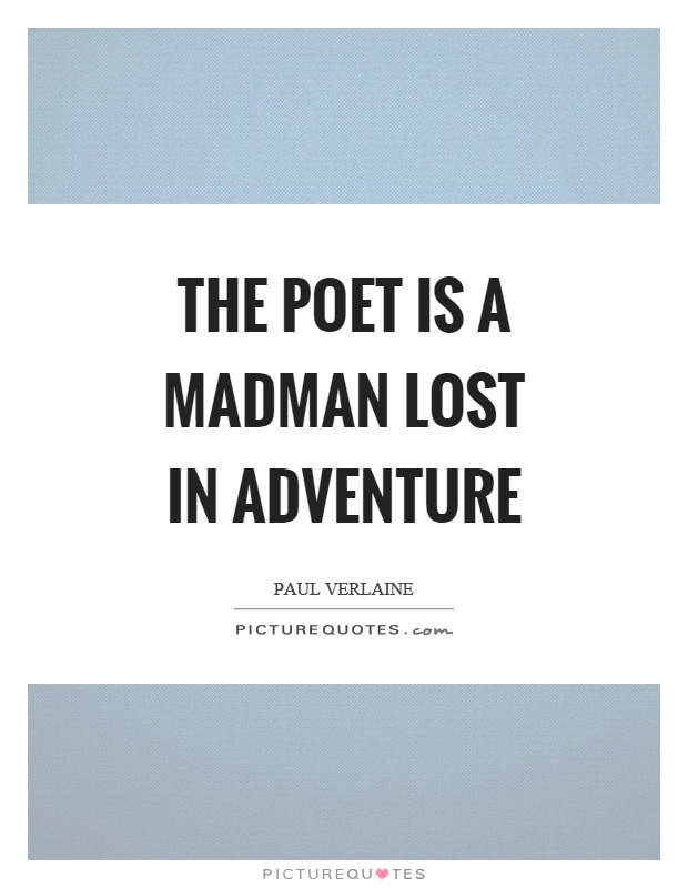 The poet is a madman lost in adventure Picture Quote #1