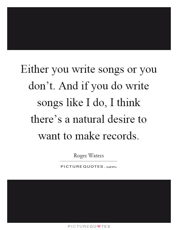 Write a song like oasis