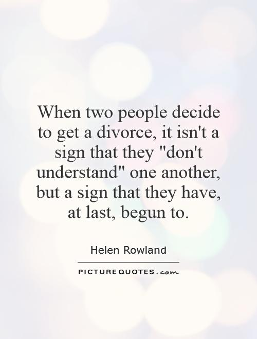 When two people decide to get a divorce, it isn't a sign that they