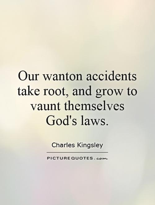 Our wanton accidents take root, and grow to vaunt themselves God's laws Picture Quote #1