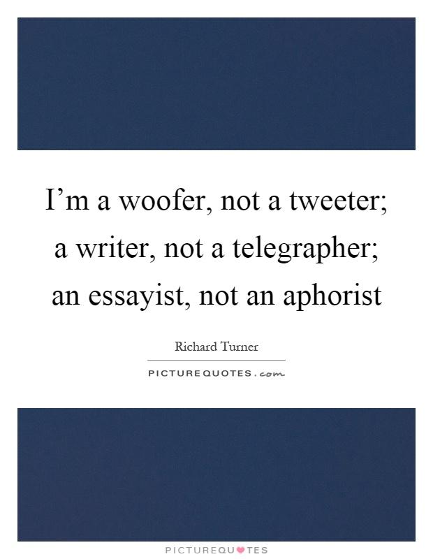 Who is an essayist