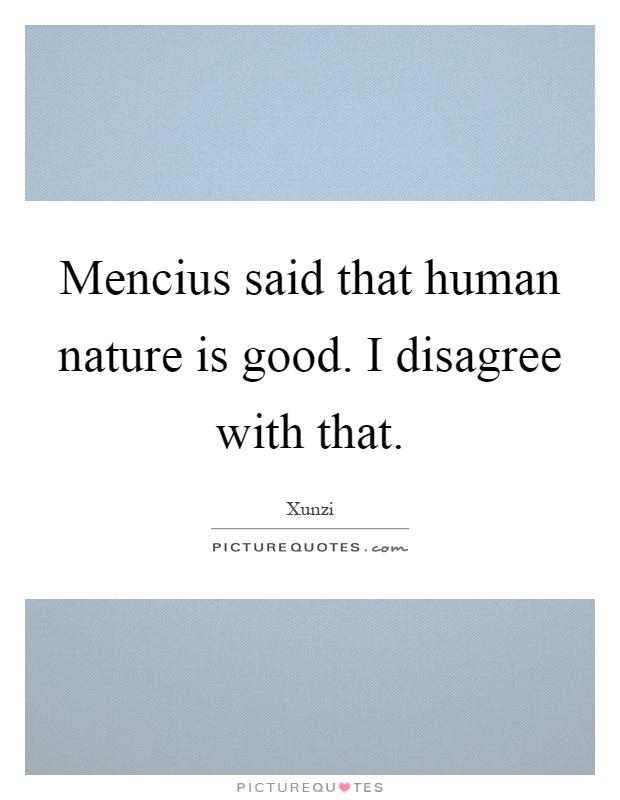Human Nature Is Good Mencius