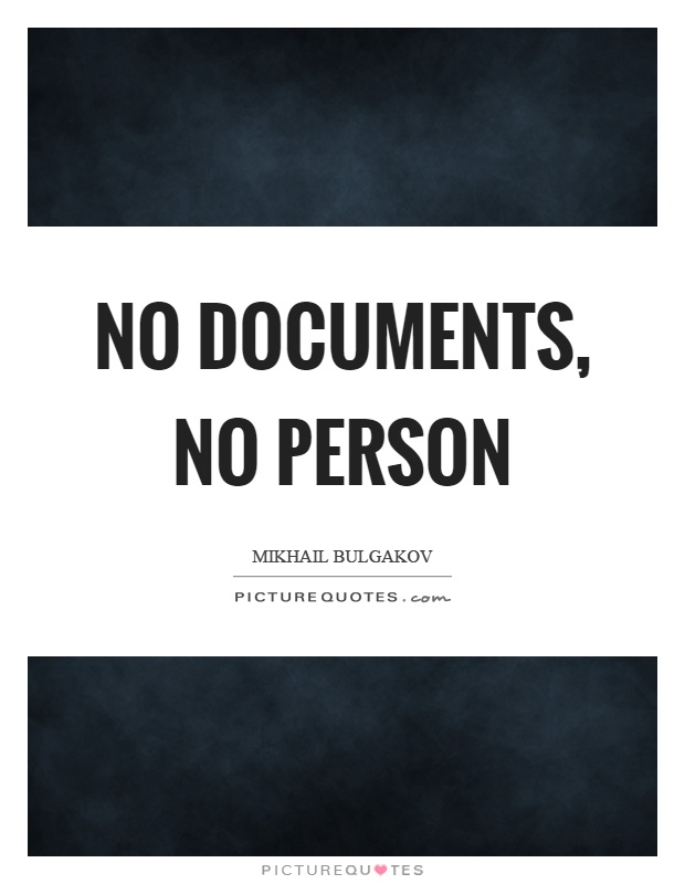 No documents, no person Picture Quote #1