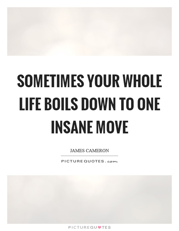 Whole Life Quotes Fair Sometimes Your Whole Life Boils Down To One Insane Move  Picture