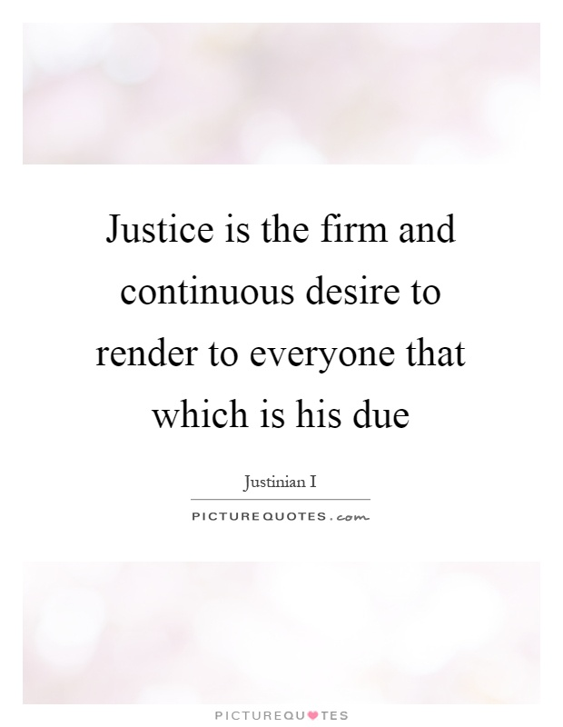 Legal Justice Definition