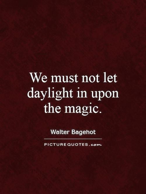 We must not let daylight in upon the magic Picture Quote #1