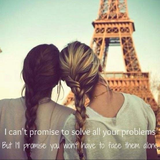 I can't promise to solve all your problems, but I'll promise you won't have to face them alone Picture Quote #1