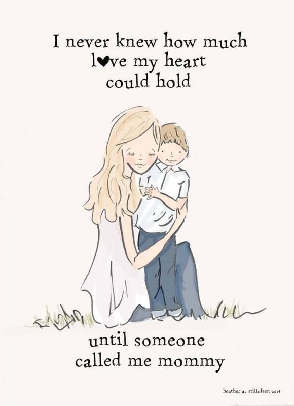 I never knew how much love my heart could hold, until someone called me mommy Picture Quote #1