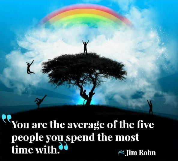 You are the average of the five people you spend the most time with Picture Quote #1