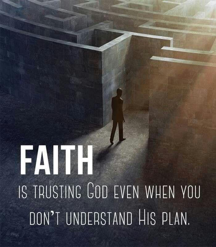 Faith is trusting God even when you don't understand his plan Picture Quote #2