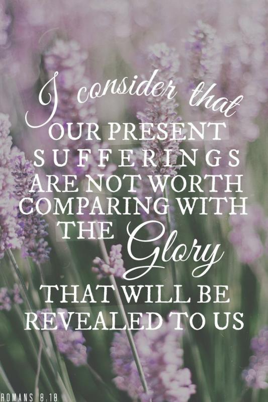 I consider that our present sufferings are not worth comparing with the glory that will be revealed to us Picture Quote #1