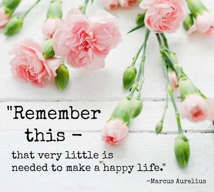 Remember this, that very little is needed to make a happy life Picture Quote #2