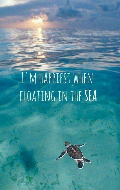 I am happiest when floating in the sea Picture Quote #1