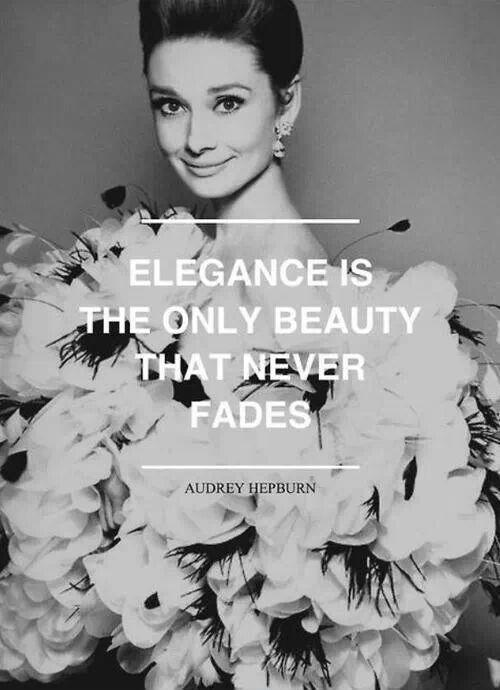 Elegance is the only beauty that never fades Picture Quote #1