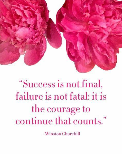 Success is not final, failure is not fatal: it is the courage to continue that counts Picture Quote #1