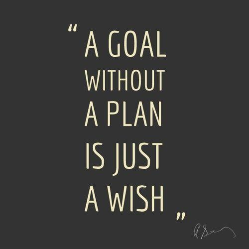 A goal without a plan is just a wish Picture Quote #1