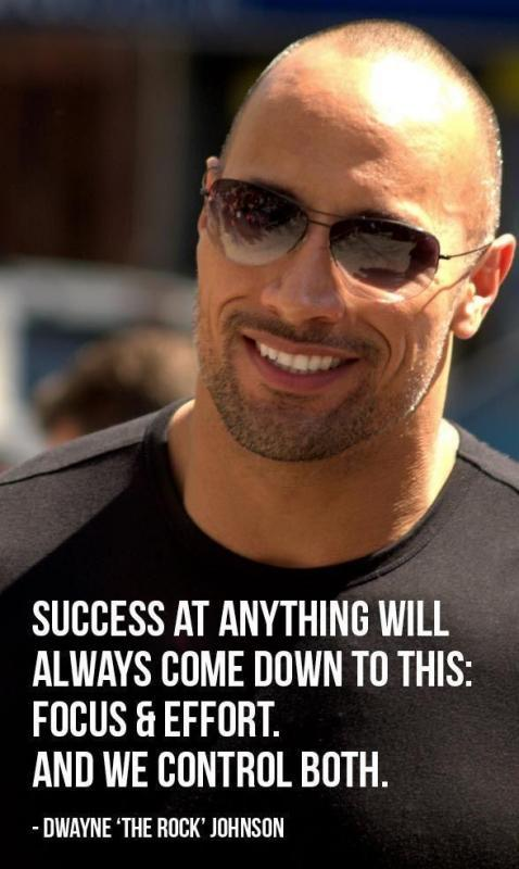 Success at anything will always come down to this: Focus and effort. And we control both Picture Quote #1