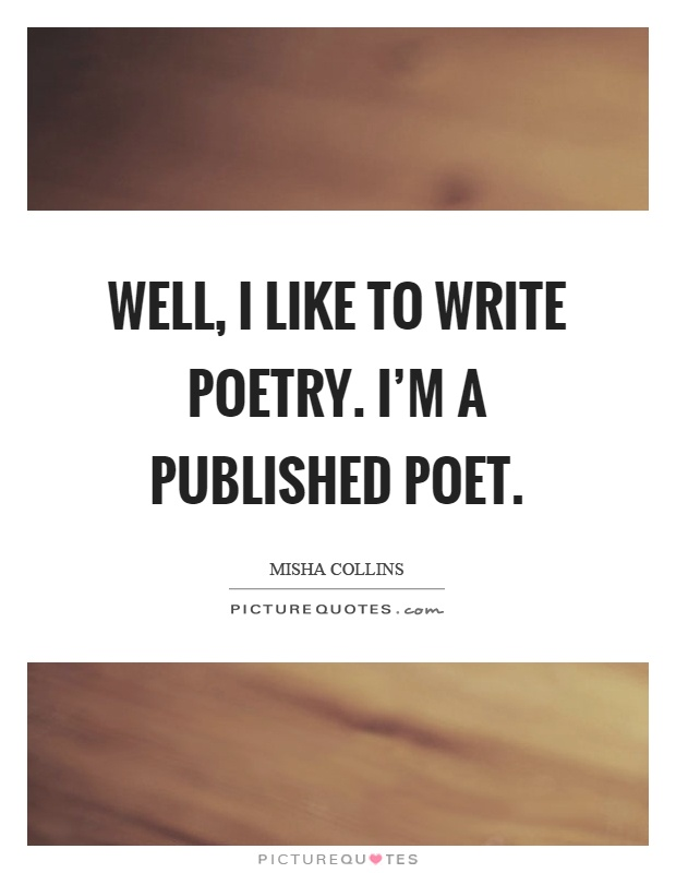How to write poetry well