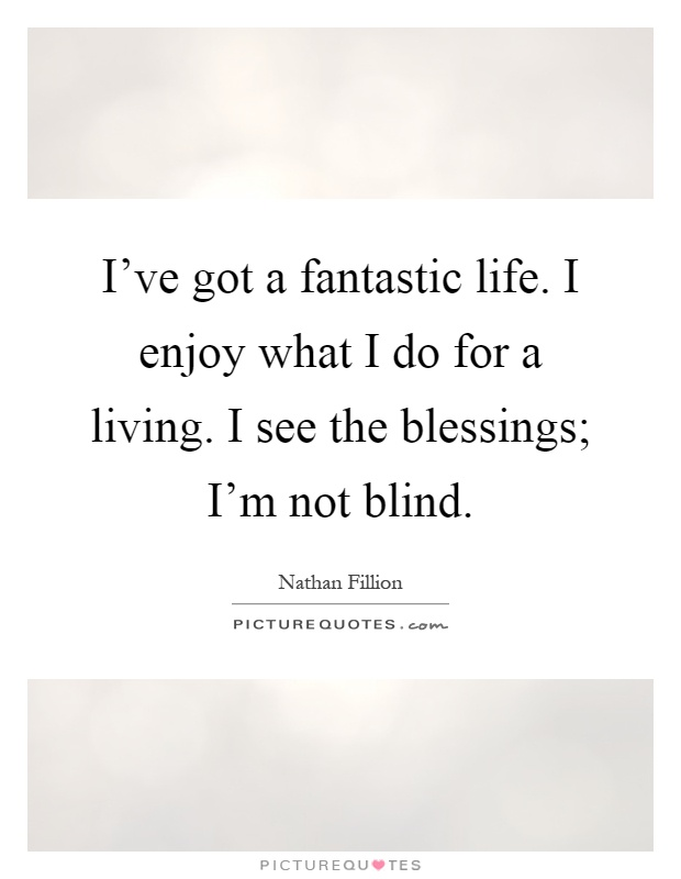 Fantastic Quotes About Life Stunning I've Got A Fantastic Lifei Enjoy What I Do For A Livingi See