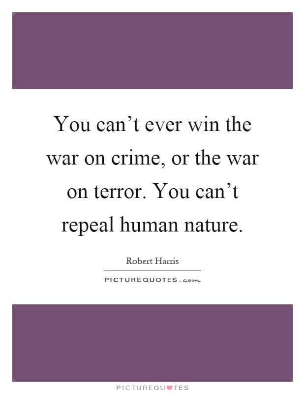 Can the war on terror be won essay