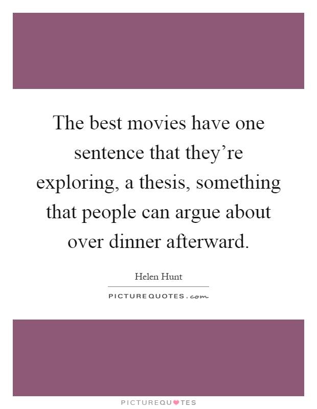 A Good Thesis Sentence