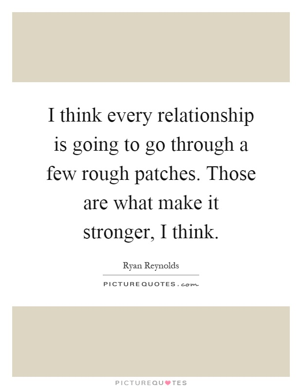 how to get througha rough patch in relationships