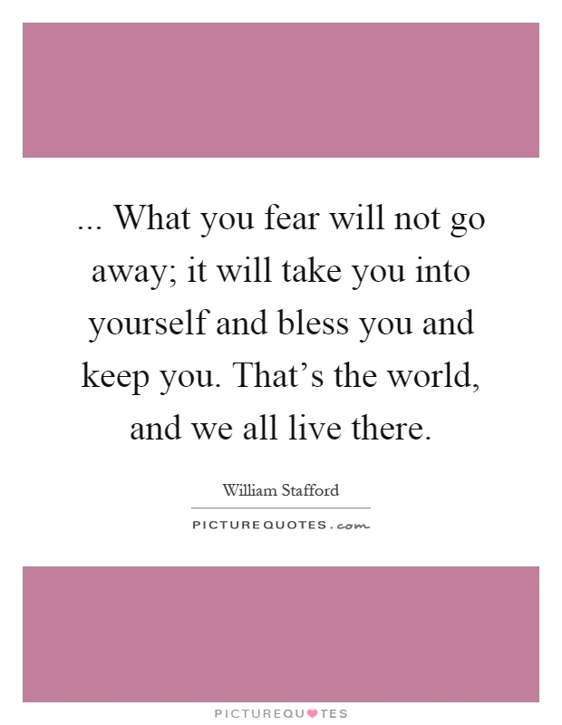 how to keep fear away