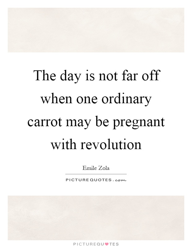 The day is not far off when one ordinary carrot may be pregnant with revolution Picture Quote #1