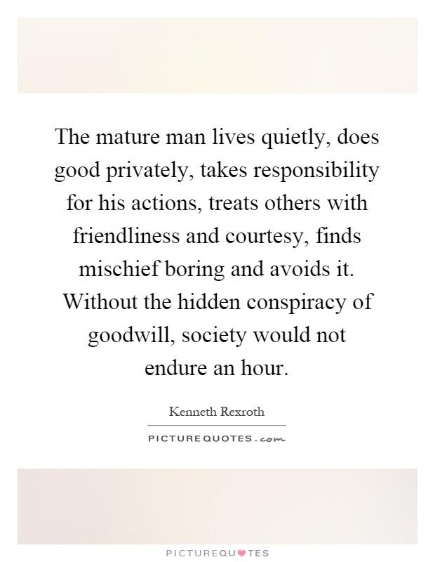 Mature responsible men