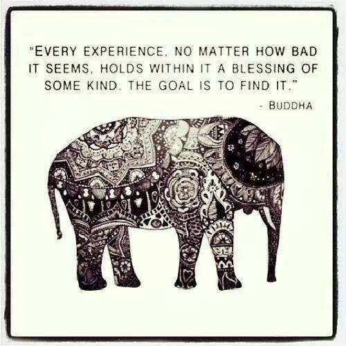 Every experience, no matter how bad it seems, holds within it a blessing of some kind. The goal is to find it Picture Quote #1